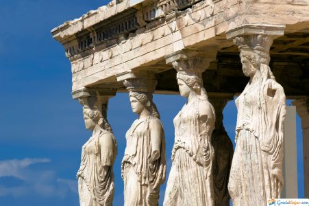 cariátides en Grecia
